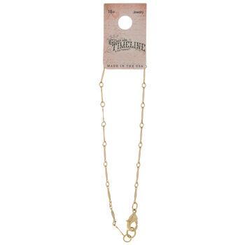 10K Gold Plated Vintage Link Bracelet