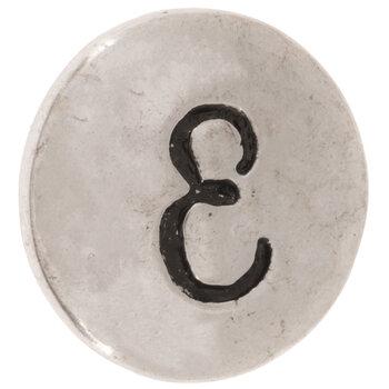 Hammered Alphabet Snap Charm - E