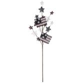 Burlap Flags & Stars Pick