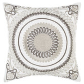 Embroidered Medallion Pillow Cover
