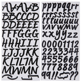Black Brush Alphabet Stickers - 1""