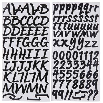Brush Alphabet Stickers