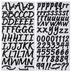 Black Brush Alphabet Stickers - 1