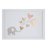 Elephant Love You Tons Framed Wall Decor