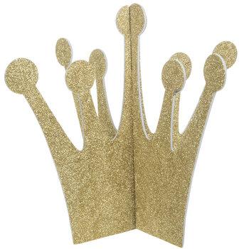 Gold Glitter Paper Crowns