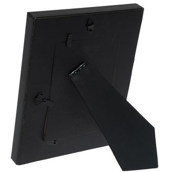 Black Wide Scoop Wood Frame