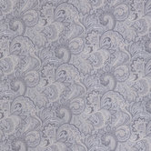 Gray Paisley Cotton Calico Fabric