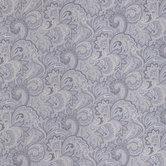 Gray Paisley Cotton Calico Fabric