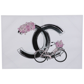 Pink Chanel Bike Canvas Wall Decor