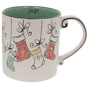 Joy Vintage Stockings Mug