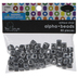 Silver Alphabet Beads