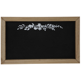Floral Chalkboard Wood Wall Decor