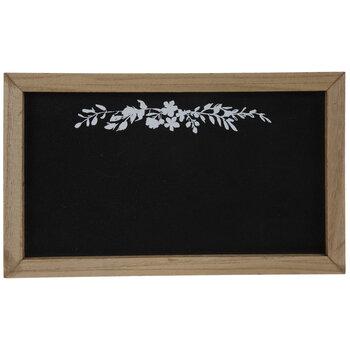 Floral Chalkboard Wood Wall Decor
