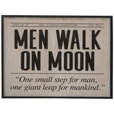 Men Walk On Moon Wood Wall Decor