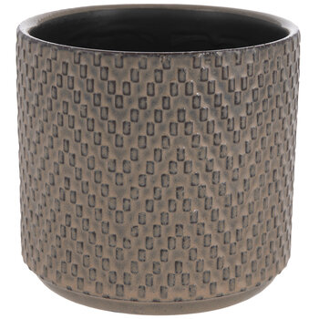 Brown Chevron Flower Pot