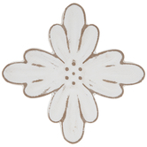 White Rustic Flower Wood Wall Decor
