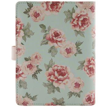 Blue & Pink Floral 6-Ring Planner Binder