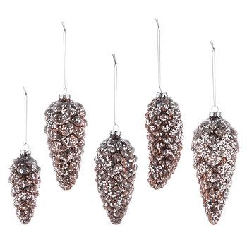 Glitter Pinecone Ornaments