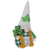 Green Buffalo Check Gnome With Braids