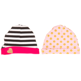 Pink Patterned Baby Hats