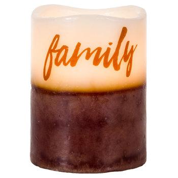 Family Vanilla Sugar LED Pillar Candle