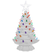 White Christmas Tree Light Up Decor