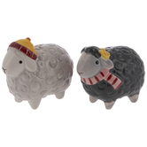 Gray Sheep Salt & Pepper Shakers Set