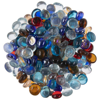 Round Transparent Glass Mosaic Gems