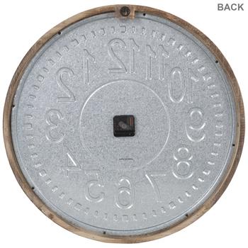 Galvanized Metal Wall Clock