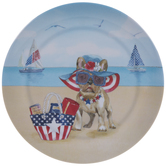 French Bulldog 4th Of July Plate