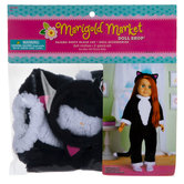 Pajama Party Black Cat Doll Outfit