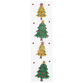 Glitter Christmas Trees 3D Stickers