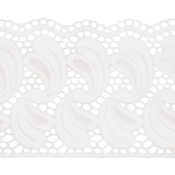 "White Feather Decorative Trim - 3 1/2"""