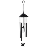Light Up Black Butterfly Wind Chime