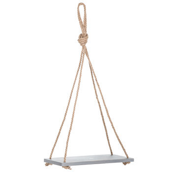 Gray Wood Hanging Shelf