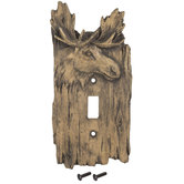 Moose Head Single Switch Plate