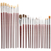 Artist Paint Brushes - 25 Piece Set