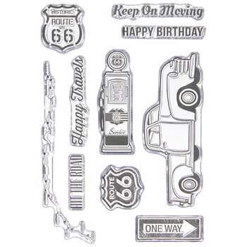 Hit The Road Clear Stamps