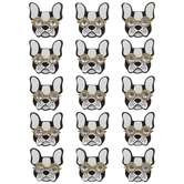Dogs With Glasses 3D Stickers