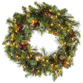 Light Up Donner Pine Wreath