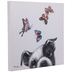 Dog With Colorful Butterflies Canvas Wall Decor