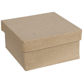 Square Paper Mache Boxes - Mini