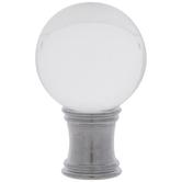 Crystal Ball Lamp Finial