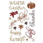 Fall Sayings Glitter Stickers