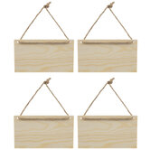 Wood Signs With Jute Hangers