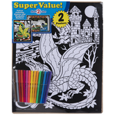 Fantasy Fuzzy Coloring Posters