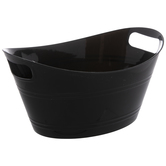 Black Oval Container With Handles - Small