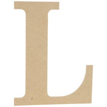 "Wood Letter L - 9 1/2"""