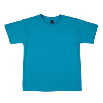Heather Galapagos Blue Tri-Blend T-Shirt - Small