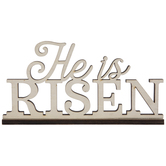 He Is Risen Wood Decor